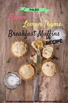 Get this delicious grain-free Paleo and Ketogenic breakfast muffins recipe here - it's perfect to make ahead and reheat in the mornings.