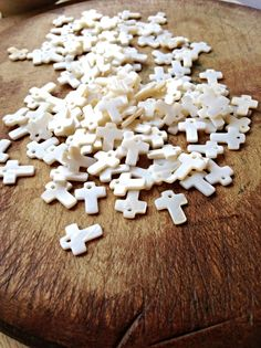 Mother of Pearl Cross Charms - 10 Teeny Tiny MOP or Shell Cross Charms - Assemblage BoHo Jewellery Art & Sewing Supplies Boho Jewellery, Jewelry Art, Beach Themes, Gingerbread Cookies, Art Supplies, Vintage Art, Shells, Dangles, Charms