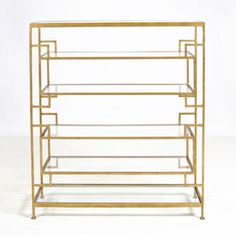 Doris Gold Leafed Etagere for a chic bookshelf. Follow us at www.birdaria.com. Love it, like it, pin it!!