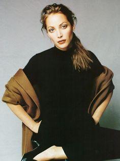 Christy Turlington by Patrick Demarchelier - US Harper's Bazaar Oct. 1995