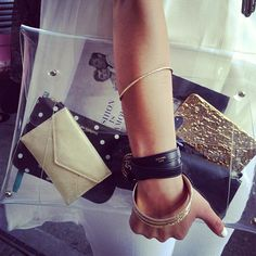 Rocking my amazing 202 Factory clutch, clearly! via @catherine gruntman Sheppard / The Life Styled instagram