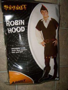 MEN'S ROBIN HOOD HALLOWEEN COSTUME SIZE MEDIUM 36-42 WITH HAT NEW SPIRIT #Spirit #CompleteOutfit