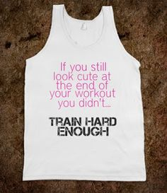 DIY Gym and Workout Clothes - if you still look cute at the end of your workout you didn't train hard enough