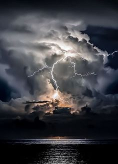 Stormy Night Sunrise by Taylor Newton Storm Pictures, Nature Pictures, Lightning Photography, Nature Photography, Beautiful Sky, Beautiful Landscapes, Fuerza Natural, Wild Weather, Thunder And Lightning