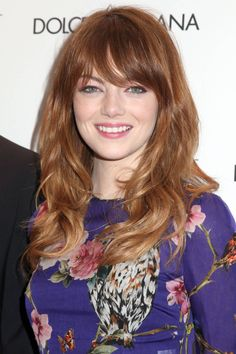 "Seen On: Emma Stone What: Glorified Blowout How-To: ""I was inspired by how hair was worn in the '70s, effortless with style,"" says Stone's hairstylist Mara Roszak. To replicate the look, apply a drop of serum to the ends and root spray at roots for extra volume. Blow out your hair with a round brush, keeping volume and movement. After drying each section, create big pin curls, and after letting them cool ten minutes, break them up with your fingertips. Editor's Picks: L'Oreal Paris Advanced…"