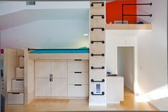 Christopher Building Company's Design Ideas, Pictures, Remodel, and Decor..... Love the storage stairs and ladder.