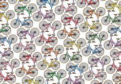 bicycle pattern by jade boylan