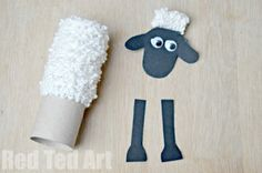 TP Roll Shaun the Sheep Craft - Red Ted Art - Make crafting with kids easy & fun Toilet Roll Craft, Toilet Paper Roll Crafts, Cardboard Crafts, Toddler Crafts, Crafts For Kids, Arts And Crafts, Diy Crafts, Recycled Crafts, Farm Animals Preschool