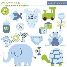 DESCARGAR Baby Boy elementos instantáneos por WisteriaDesignStudio