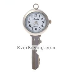 Key Shaped Watch with Key Chain-my mo would love this!