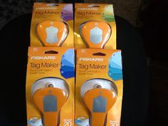 SET of 4  FREE SHIPPING  Fiskars Tag by DivineDesignsbyBonni