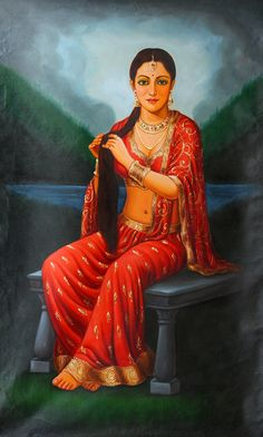 What Are the Sacred Texts of the Hindus? Indian Art Gallery, Indian Artwork, Indian Art Paintings, Mughal Paintings, Oil Paintings, Rajasthani Painting, Rajasthani Art, India Painting, Woman Painting