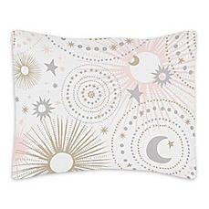 image of Sweet Jojo Designs Celestial Standard Pillow Sham in Pink/Gold