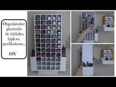 Organizador giratorio de labiales, lápices, perfiladores... DIY - Makeup Organizer - YouTube
