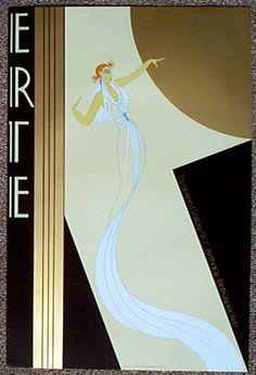 Lace-Erte Art Deco style