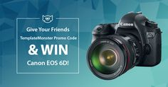 Make This Summer Truly Unforgettable with #CanonEOS6D! Win This Superb Camera for Helping Your Friends Save on Website building! Join Social Stock Project Now: www.templatemonster.com/social #TemplateMonsterPromoCode #TemplateMonsterCoupon