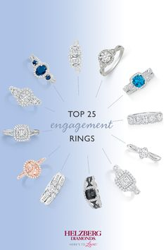 Discover what's trending in engagement rings. Helzberg is home to a breathtaking selection of engagement rings in every shape and style. Get inspired with the top 25 best-selling engagement rings.