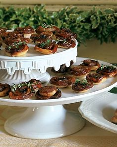 <18 of 20 >  Caramelized Onion Tartlets  Cipollini onions are perfect for these tarts -- which can be baked in mini-muffin tins -- because they are small, flat, and sweet.  Get the Recipe