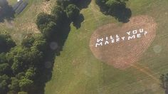 Man uses 42 bed sheets to propose to his now fiance - how creative! #engagement #creative #proposal #marryme