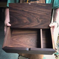 his walnut writer's box we first made for my friend has become SO popular! It makes a great graduation or wedding gift, and can be personalized with engraving on top and/or inside the lid. Available now in our Etsy shop!