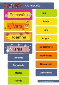 010 - calendarul naturii - anotimpurile si lunile anulului Preschool Classroom Rules, Kindergarten Math Worksheets, Kids Routine Chart, Experiment, Educational Games, Learning Spanish, Kids Education, Teacher Resources, Calendar