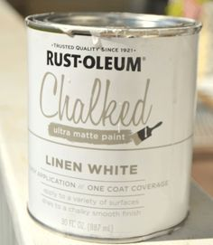 Rust-Oleum Chalked in Linen White for Kitchen Cabinets