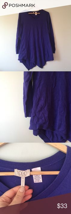 Lori Goldstein Handkerchief Hem Cashmere Sweater 5% cashmere sweater. Beautiful sweater. The color is amazing. lori goldstein Sweaters