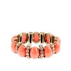 J Crew coral bracelet