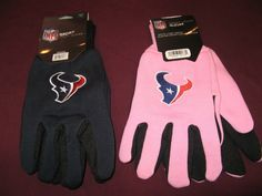 TWO (2) PAIRS OF HOUSTON TEXANS, SPORT UTILITY GLOVES(ONE REG & ONE PINK) #HoustonTexans