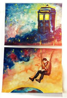 gorgeous Doctor Who fanart. who watched tonight?? I won't pin stuff till tomorrow, at least, to give people time.