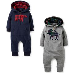 2016 New Spring Autumn Baby Grils Boys Clothing Newborn Baby Rompers Infant Little Bear Hooded Cotton Jumpsuits bebes Products