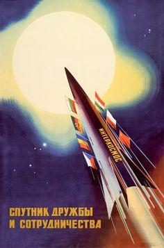 Tierra: misión cumplida   Hoy os dejo por aquí una selección de carteles propagandísticos relacionados con la conquista espacial soviética...