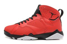 big sale 050de 8044c nike air jordan 7 (VII) retro shoes men-red black Cheap Jordan