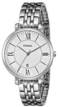 Fossil Women's ES3433 Jacqueline Three-Hand Stainless Steel Watch * Want additional info for the watch? Click on the image.