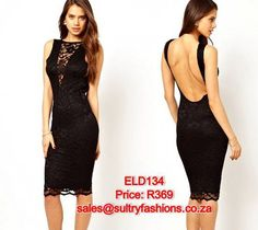 ELD134 - PRICE: R369  AVAILABLE SIZES: M/L (Size 10-12/34 -36) To order, email: sales@sultryfashions.co.za Dresses For Sale, Nice Dresses, Formal Dresses, Lace Dress, Bodycon Dress, Chic, My Style, Womens Fashion, Clothes