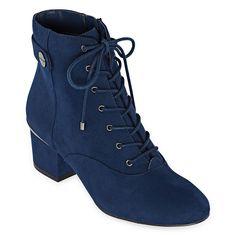 Liz Claiborne Womens Garret Block Heel Zip/Lace-Up Booties - JCPenney Lace Up Booties, Rubber Shoes, Liz Claiborne, Passion For Fashion, Combat Boots, Ankle Boots, Block Heels, Athletic Shoes, Winter Fashion