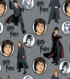 Harry Potter Comic Character Allover Cotton Fabric