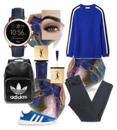 """""""(・Д・)"""" by chrysanthemum-san on Polyvore featuring SoapRocks, Acne Studios, Tory Burch, adidas Originals, FOSSIL, Christian Dior and comfy"""