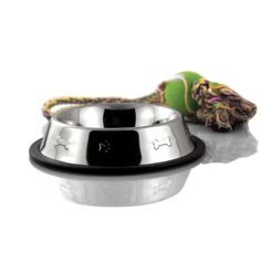 NON-SKID/TIP EMBOSSED - Perfect for keeping those little puppy noses from pushing their bowls all over the floor! #nomess #berganpet