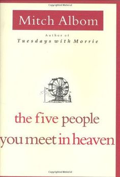 The Five People You Meet in Heaven by Mitch Albom, http://www.amazon.com/dp/0786868716/ref=cm_sw_r_pi_dp_2nYGqb1KHBSKV