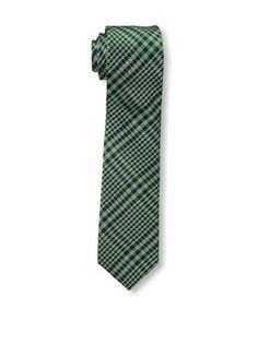 47% OFF Ben Sherman Men's Textured Plaid Tie, Green