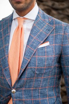 Blue and Orange/Coral | Great colors for Spring/Summer | Menswear | Men's Fashion | www.designerclothingfans.com