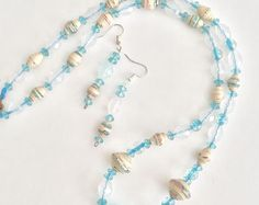 Paper bead Necklace and Earrings