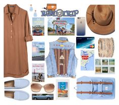 """Did Someone Say Road Trip"" by sharee64 ❤ liked on Polyvore featuring United by Blue, Eugenia Kim, Accessorize, Lonely Planet, Kate Spade, Polaroid, Casetify and Suneera"