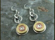Bullet Casing Jewelry - Winchester 410 Shotgun Shell Dangle Earrings by Anne Jansen, The Key of A - Jewelry | Jewelry >> Apparel - Sporting ...