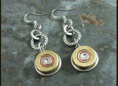 Bullet Casing Jewelry - Winchester 410 Shotgun Shell Dangle Earrings by Anne Jansen, The Key of A - Jewelry | Jewelry >> Apparel - Sporting ...