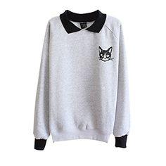 Froomer Womens Cat Print Sweatshirt Long Sleeve Blouse Loose Sweater Shirt Gray Froomer http://www.amazon.com/dp/B00PY2BGHU/ref=cm_sw_r_pi_dp_jw8Avb1QPKN6P