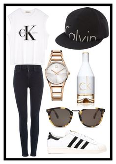 """#175 Calvin Klein"" by xjet1998x ❤ liked on Polyvore featuring Calvin Klein and adidas Originals"