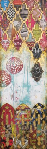 """""""Beyond"""", mm on cradeld board, 18x57"""", contact for pricing & availability"""