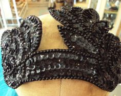 Vintage Sequined Flapper Style Headband on Etsy at RetroRosiesVintage
